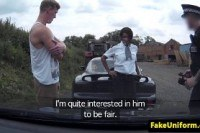 Кончают в рот порно ххх видео Black british cop spitroasted outdoors