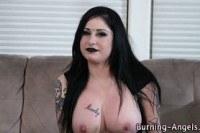 Панки порно ххх видео Pierced goth cum drenched