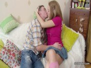 Худенькие порно ххх видео Step-bro seduce skinny blonde sister to