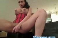 Вебка порно ххх видео Busty cam-girl teen toying on web