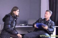 В коже порно ххх видео Russians flirting at the office