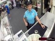 Подсмотренное порно ххх видео Hot brunette police officer sells a
