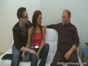 Два Парня и Девушка порно ххх видео Elizaveta is obsessed with older men