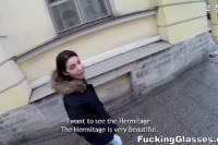 Порно ххх видео Fucking glasses local cutie guides to