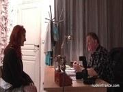Европейское порно ххх видео Busty french redhead babe deep anal