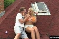 На природе порно ххх видео Christen is a blonde girl thats always