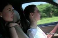 Публичное порно ххх видео Teen lesbians filming sex outdoors