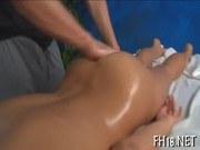 Порно ххх видео Fucking after massage