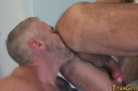 Порно ххх видео Gay buff bear nailing