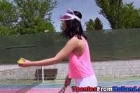На природе порно ххх видео Teen rub with tennis ball