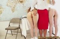 Волосатые порно ххх видео Lez teacher spanks mormon
