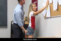 Училки порно ххх видео Teacher fucks smalltits blonde teen