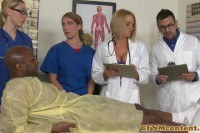 Порно ххх видео Cfnm nurses sucking bbc before facial