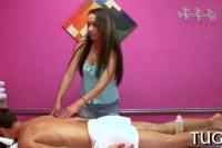 Порно ххх видео Stud caught having sex during massage