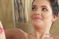 Массаж порно ххх видео Skinny brunette takes masseurs dick