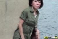 Фетиш порно ххх видео Asian slut pissin in park