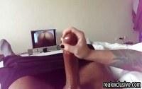 Частное порно ххх видео Handjob for my black bf while ing