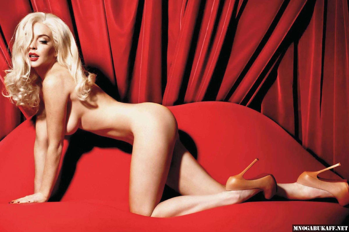 Lindsay Lohan Nude Wearing Just Black Coat